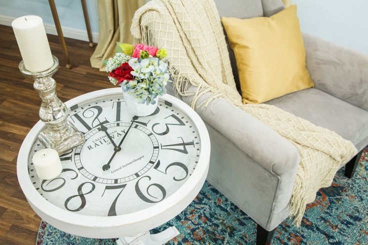 Never lose track of time with @paigehemmis' DIY Clock End Table! For more great DIYs tune in to Home & Family weekdays at 10a/9c on Hallmark Channel!
