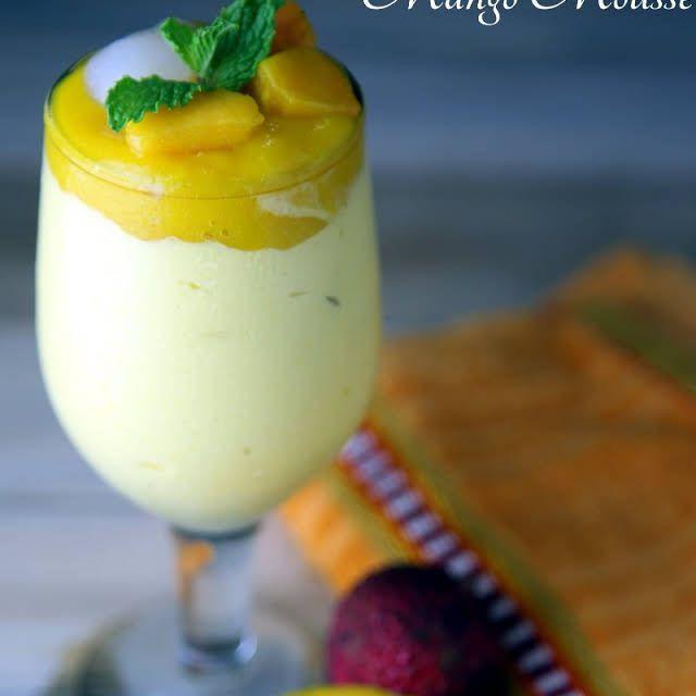 Mango Lychee Mousse Recipe Yummly Recipe Lychee Recipes Mango Mousse Lychee Mousse Recipe