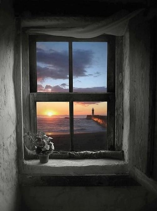 window view of the sea
