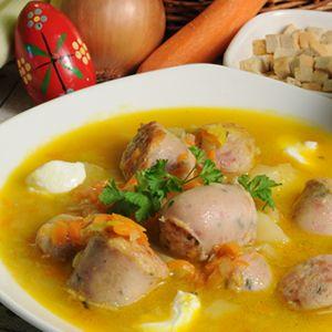 Zupa z porów z białą kiełbasą * Leek soup with sausage  #zupa #sopa