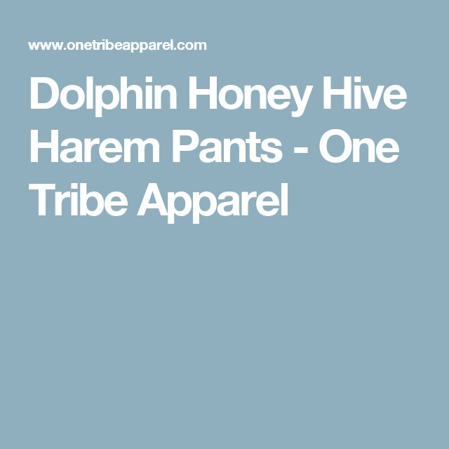 Dolphin Honey Hive Harem Pants - One Tribe Apparel