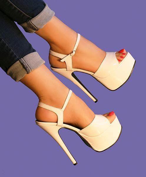 Ellie High WhitestilettoheelsStiletto Heel Sandals In By Juliet uPwOklZiXT