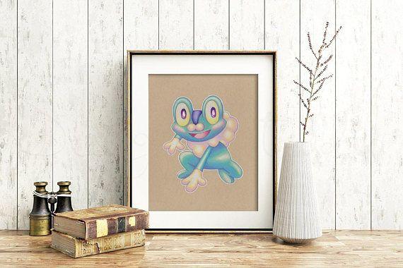 Froakie Art Signed Print Pokemon Art Pokemon Geek Art