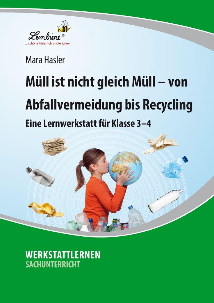 """Das Thema """"Müll"""" hat einen großen Alltagsbezug, da jeder Einzelne täglich verschiedene Dinge im Abfall entsorgt. Den anfallenden Müll & den Umgang mit ihm bewusst in den Mittelpunkt zu stellen, ist das zentrale Anliegen dieser Werkstatt – anknüpfend an die Erfahrungen der Kinder kann Umwelterziehung in Theorie und Praxis stattfinden und die Kinder für die Müllproblematik sensibilisiert werden. #Lernbiene #Grundschule #Unterrichtsmaterial #Sachunterricht #Müll #Umwelt #Recycling #Technik…"""