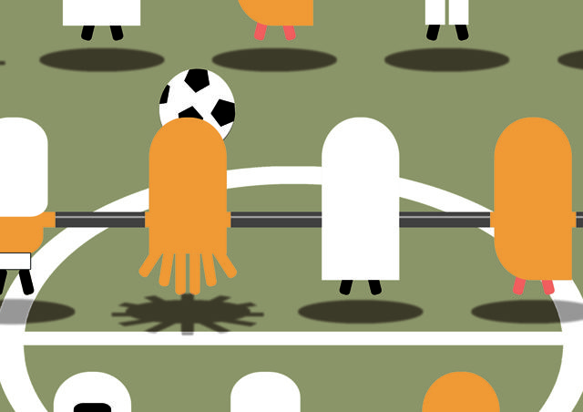 Table soccer illustration on ETSY with aliens players, :) Detail...