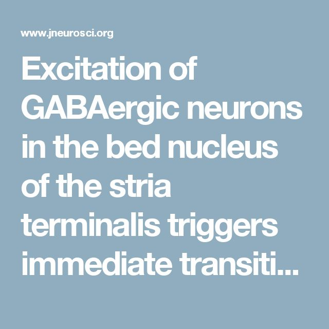 Excitation of GABAergic neurons in the bed nucleus of the stria terminalis triggers immediate transition from non-rapid eye movement sleep to wakefulness in mice   Journal of Neuroscience