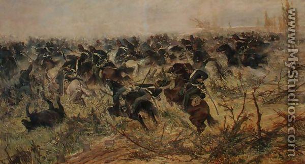 Cavalry Charge, 1873 - Giovanni Fattori