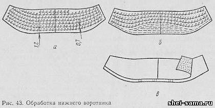 14. Обработка нижнего воротника - Технология пиджака - Изготовление мужских и…