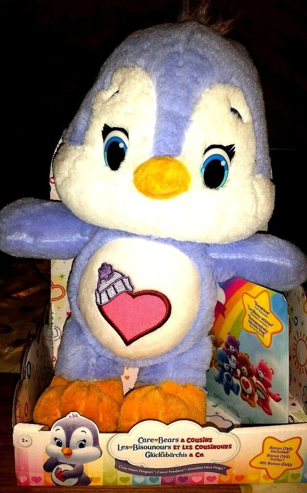 "Care Bears & Cousins Soft 12"" Medium Plush with DVD sunshine so soft & cute toy"