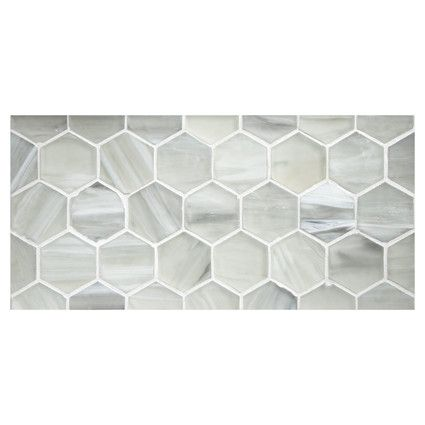 Complete Tile Collection Uze Gl Mosaic 2 Inch Hexagon Elation In Silk Finish Mi 038 G2 276 012 Tiles Hexagontiles Interiordesignideas