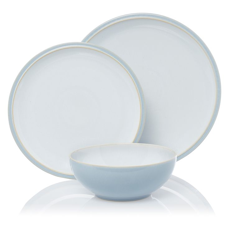 Denby Cool Blue Everyday Dinner - Set - 12 Piece | View all Kitchen & Dining | ASDA direct