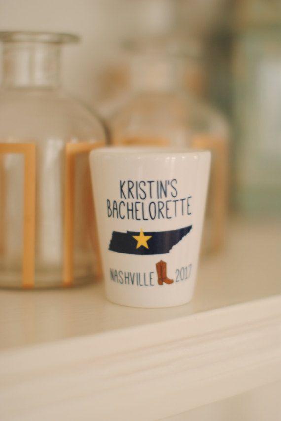 Bachelorette Party Shot Glass, Nashville Bachelorette, Bachelorette Gifts, Bachelorette Party Favors, Any Location Available