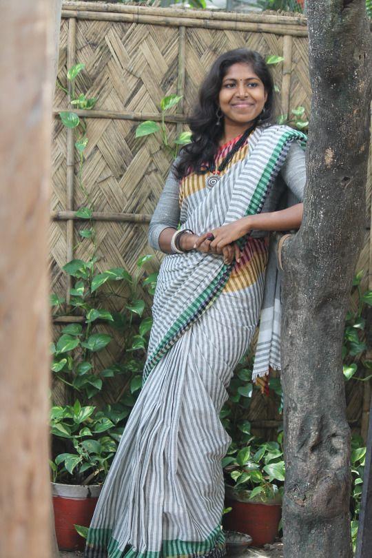 Striped Saree from Menka Bangladeshi Saree