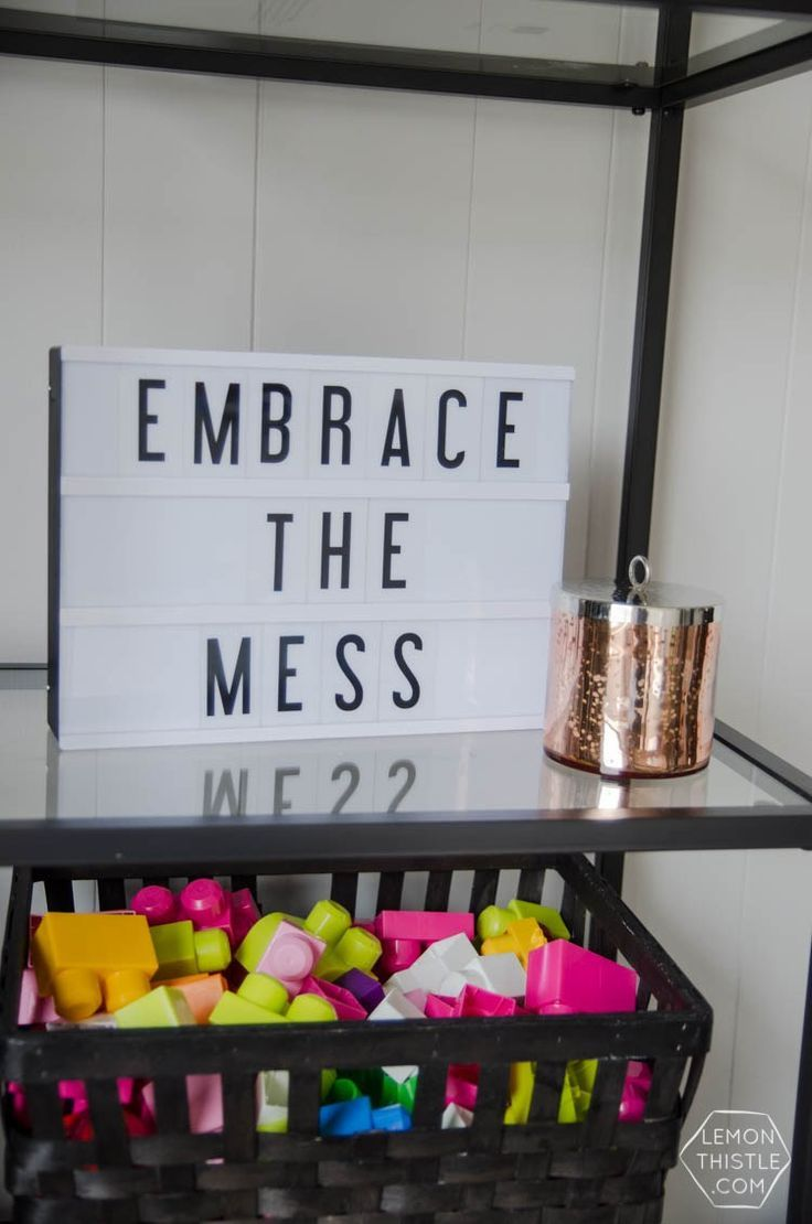 love me a lightbox! and perfect for a home with kids