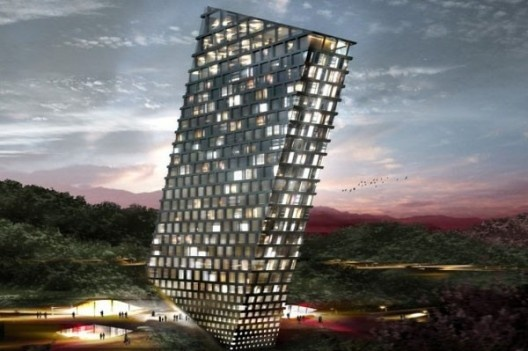 TLT: El hotel inclinado diseñado por BIG