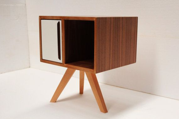 Mid century modern bedside table by craftworksfurniture on Etsy