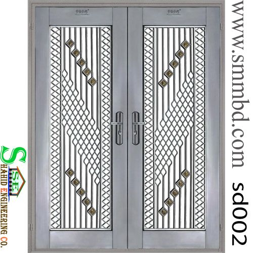 Category: Steel Door Tags: -Front Doors, Frames, Metal & Steel Doors, Shop Entry Doors, Steel & Hollow Metal Doors, Steel Doors, steel security door Model No	: SD 002 Delivery Time	: 15-25 Days Shipment	: Free in Dhaka city Product Unit	: Price per pcs. Materials	: iron ,Mile Steel Size	: H ' x L ' or As your requirement Metal type	: Steel, Wrought iron