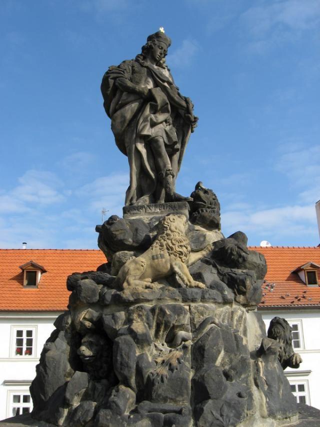 Photos of Charles Bridge North Side Statues: Statue of St. Vitus on Charles Bridge