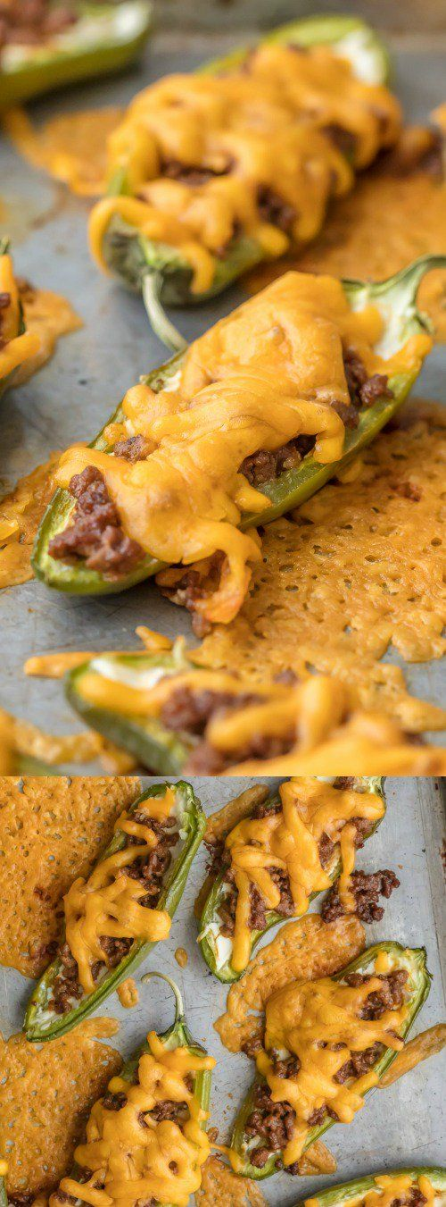 These Cheeseburger Stuffed Jalapeño Poppers from The Recipe Critic are a fun and easy appetizer. They bring just the right amount of spice and flavor! via @bestblogrecipes