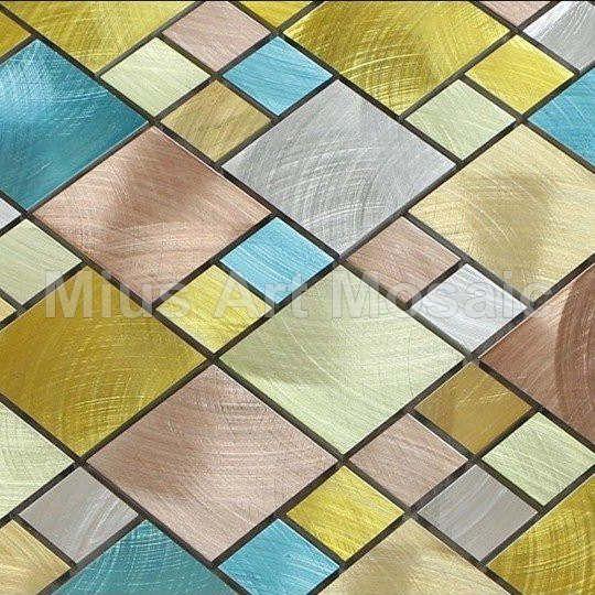 Colorful aluminium alloy mosaic kitchen mosaic metal mosaic A1L017 - ICON2 Luxury Designer Fixures  Colorful #aluminium #alloy #mosaic #kitchen #mosaic #metal #mosaic #A1L017