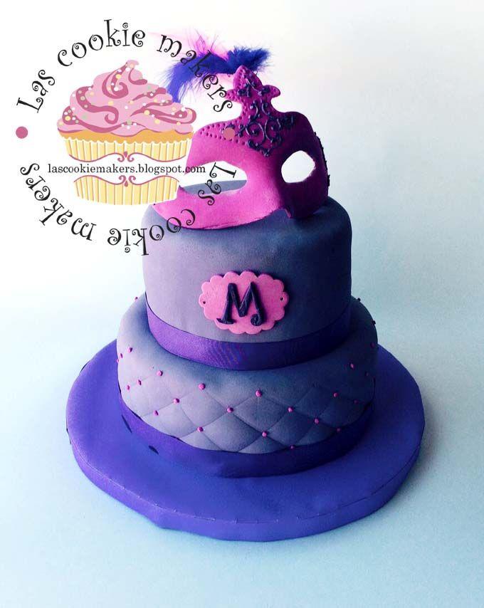 MASQUERADE CAKE  TORTA MASCARA DE DISFRACES lascookiemakers@gmail.com