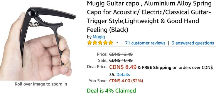 Amazon Canada Deals Of The Day: Save 32% on Mugig Guitar capo Aluminium Alloy Spring Capo & 26% on Lucifer: Seas... http://www.lavahotdeals.com/ca/cheap/amazon-canada-deals-day-save-32-mugig-guitar/219193?utm_source=pinterest&utm_medium=rss&utm_campaign=at_lavahotdeals