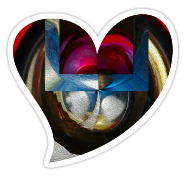 Birth Of A Heart Sticker by StickerNuts