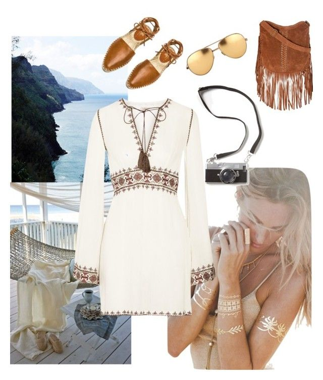 Missing summer already by traversrt on Polyvore featuring polyvore, fashion, style, Talitha, belle by Sigerson Morrison, Glamorous, Lulu DK and Linda Farrow