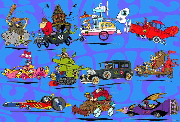 Hanna-Barbera Cartoons 1960S | Wacky Races is a Hanna Barbera cartoon animated television series ...