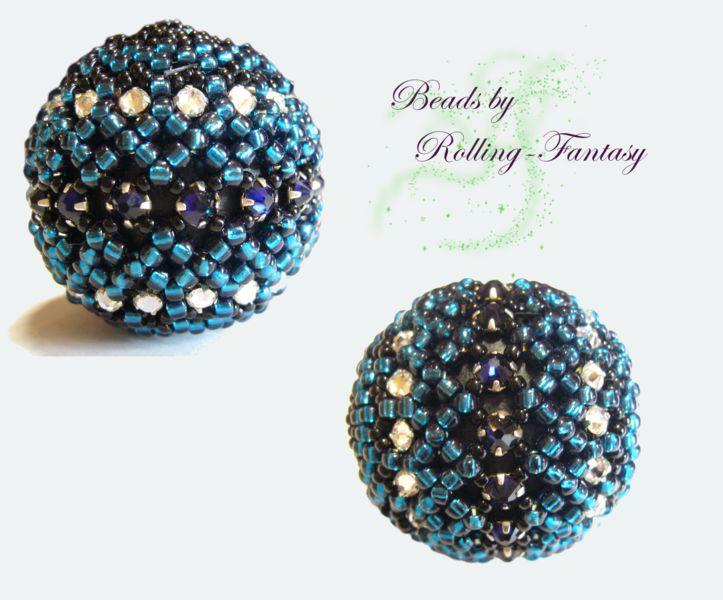 Steuerkugel für E-Rollstuhl mit Swarovski-Steinen von Beads by Rolling-Fantasy auf DaWanda.com