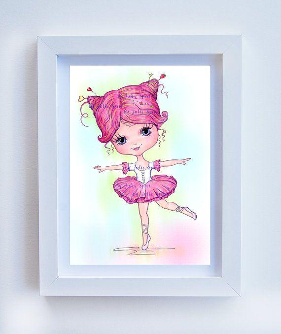 Nursery Wall Art Printable Digital Illustration by JuliaSpiri