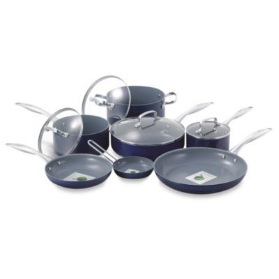 Fiesta® 11Piece Aluminum Cookware Set in Cobalt Blue