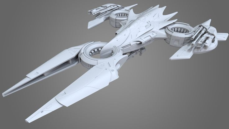 High Poly Spaceship 2