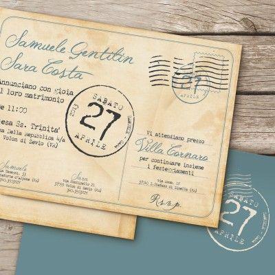 Partecipazioni nozze chic&love www.viniciomascarello.com