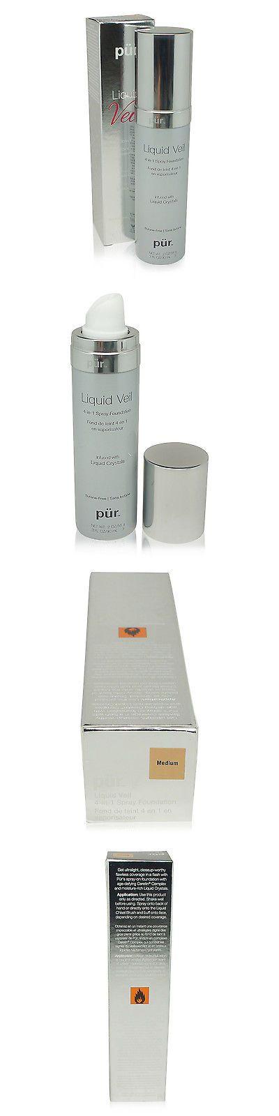 health and beauty: Pür • Liquid Veil 4 In 1 Spray Foundation • Medium • 3Oz • New -> BUY IT NOW ONLY: $31.12 on eBay!