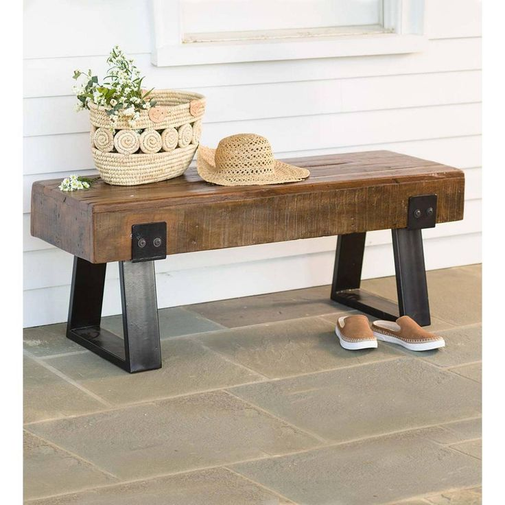 Hearth Bench: Richland Collection All Weather Wood Garden Bench Seat
