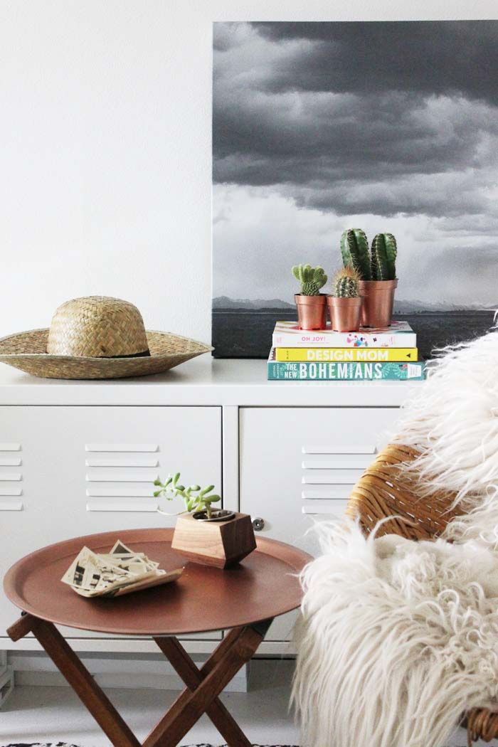 Poppytalk: DIY IKEA Hack - Copper End Table