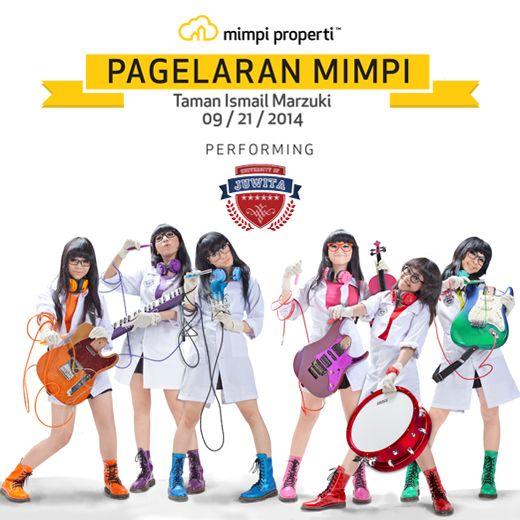 "Live Musik Performance dari @juwitaband juga ada di ""Pagelaran Mimpi"" di Taman Ismail Marzuki pada 21 September 2014"