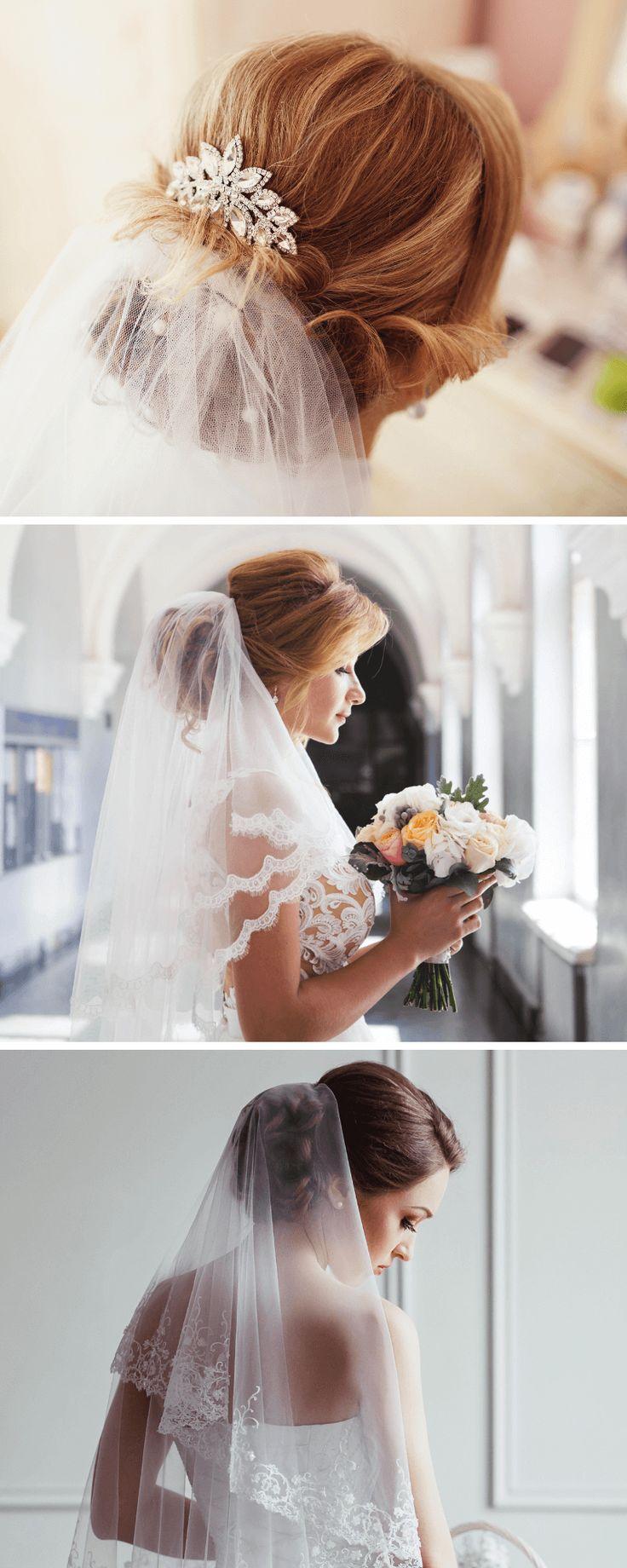Brautfrisur mit Schleier: 30 Inspirationen   Hochzeit