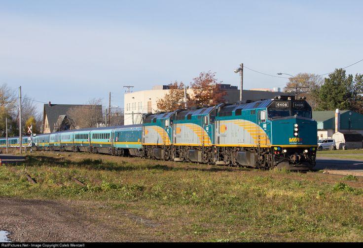 RailPictures.Net Photo: VIA 6408 VIA Rail EMD F40PH at Amherst, Nova Scotia, Canada by Caleb Wentzell
