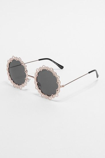 Black circular embellished sunglasses #gift #TALLYWEiJL