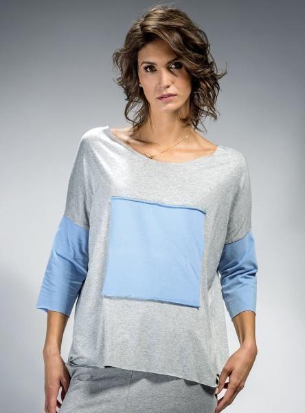 #Bluzka z aplikacją, #szara, #niebieska, #tiul, #mapepina #blouse #fashionproject #fashion #modern #active #women #streetstyle #styl #ubranie #ciuchy #stylizacja #nowe #warszawa #cute #schön #bluse #blúzka #halenka #chemisier #blus