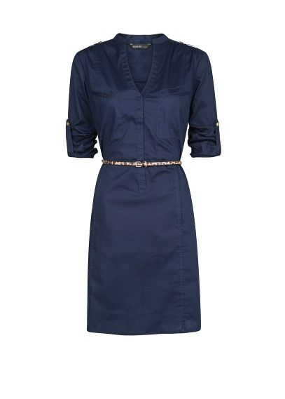 Cotton shirt dress love it, and the color!