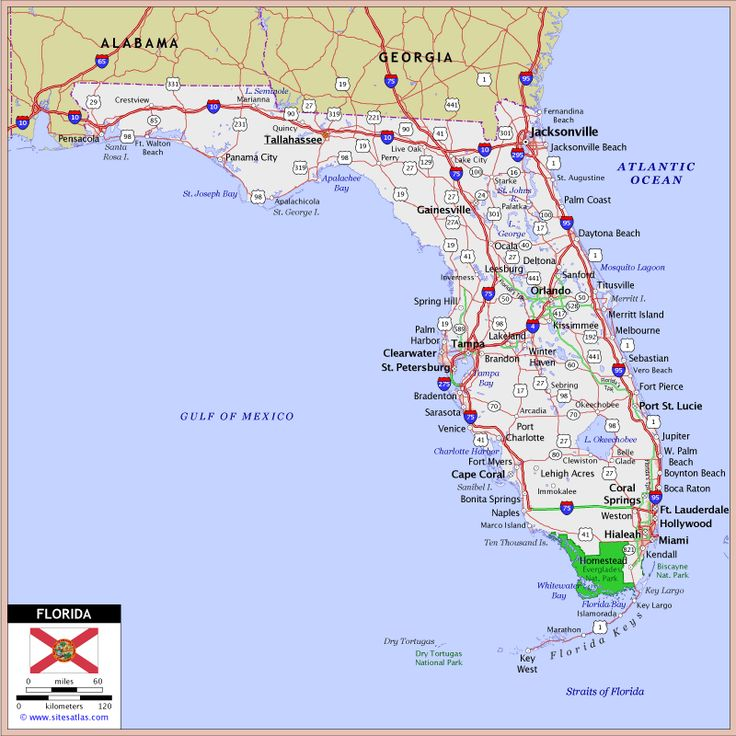 Florida Highway And Road Map Because I Like It