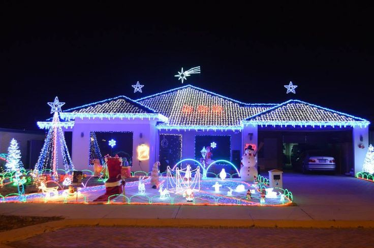 Christmas lights in Aveley, WA, Australia.