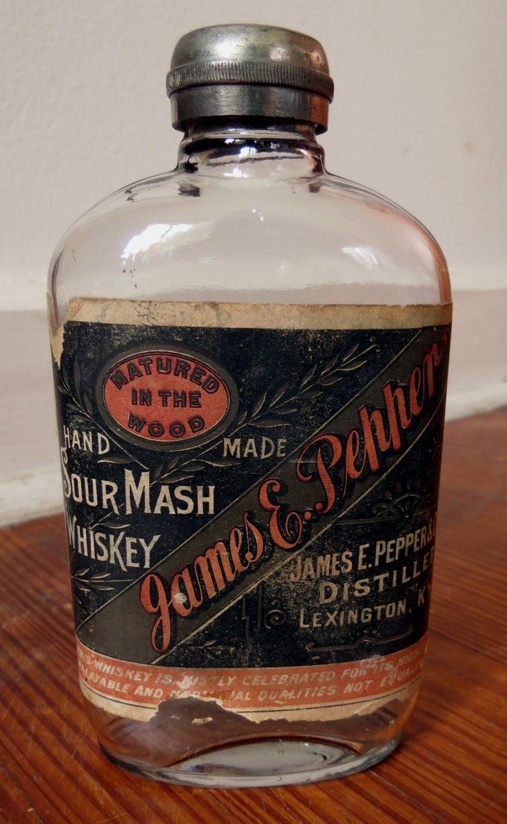 Old James E Pepper Whiskey Bottle with Label Lexington Kentucky Nice | eBay