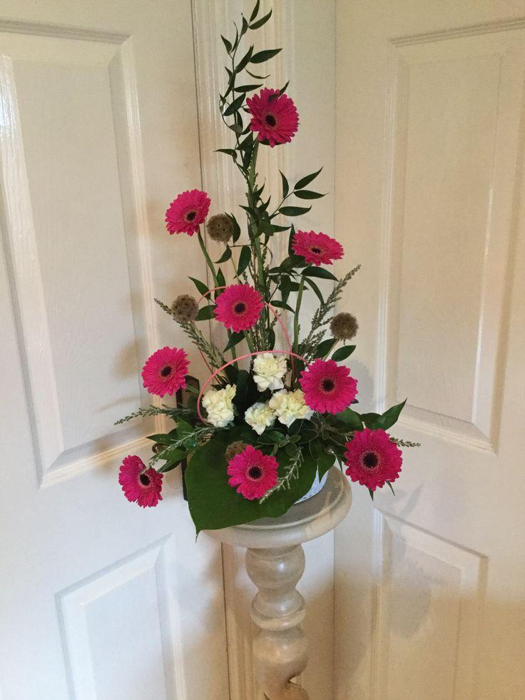 Gerbera and carnations.