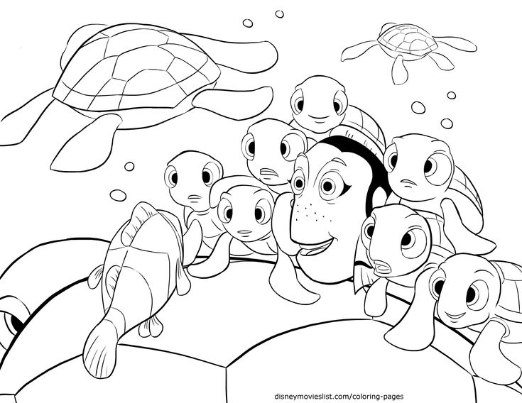 41 best images about colouring finding nemo on pinterest for Finding nemo coloring pages free