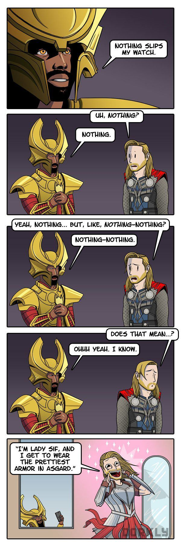 I don't know how I feel about this.....Except that I'm pretty sure Thor wishes he was as awesome as Lady Sif.