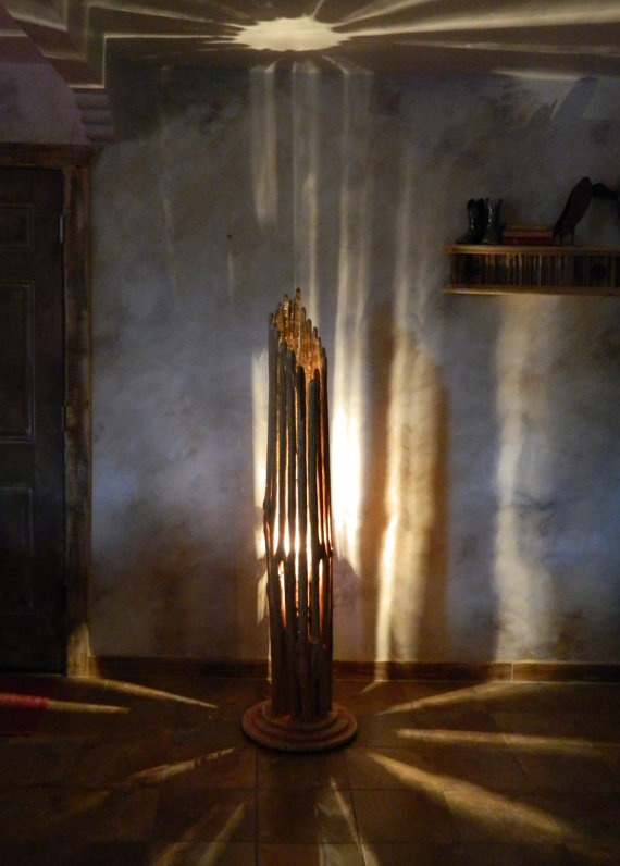Home Floor Lamp Saguaro Cactus Floor Lamp With Wood Base Floor Lamp Cactus Lamp